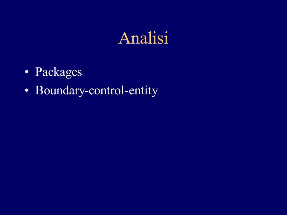 Analisi Packages Boundary-control-entity