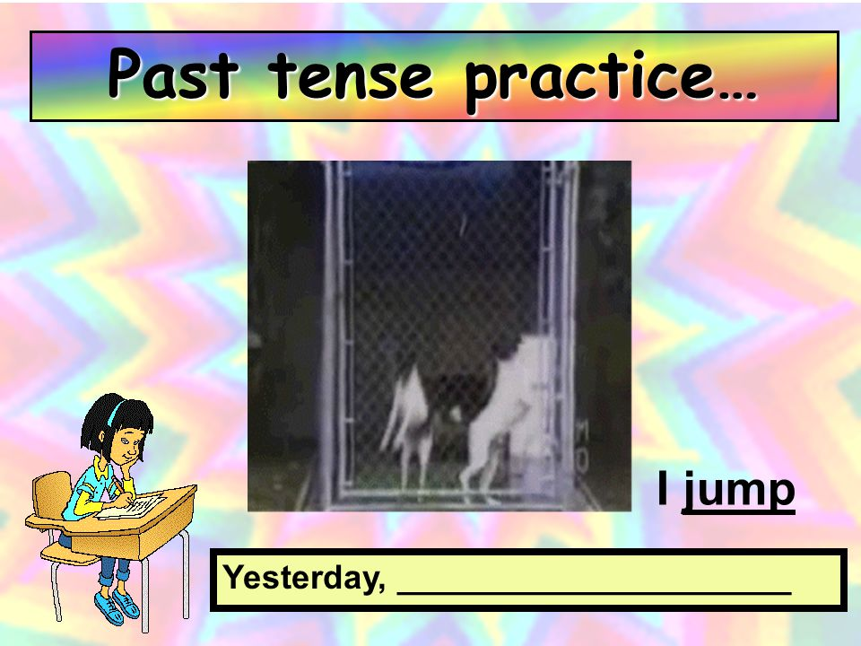 On Sunday, _____________________ I listen to music Past tense practice…