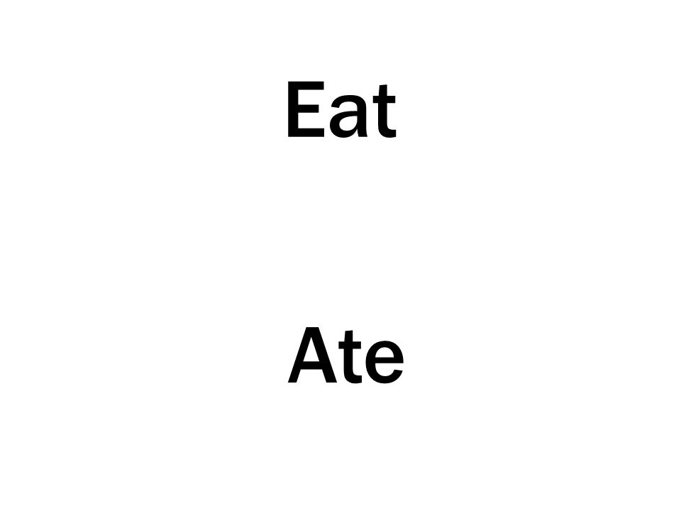 Eat Ate