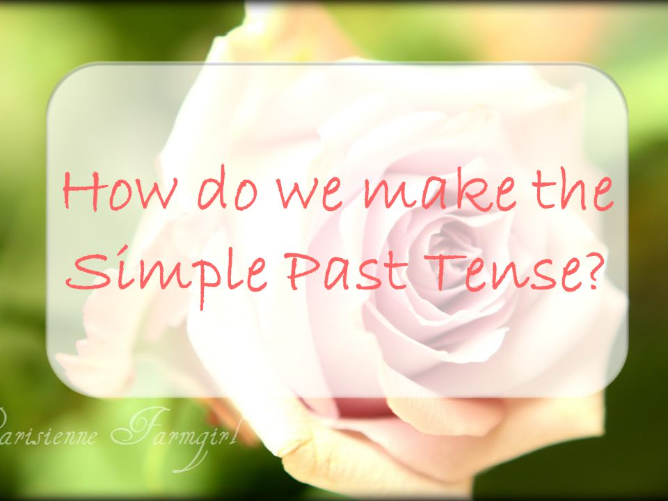 To make the simple past tense, we use: past form only or auxiliary did + base form