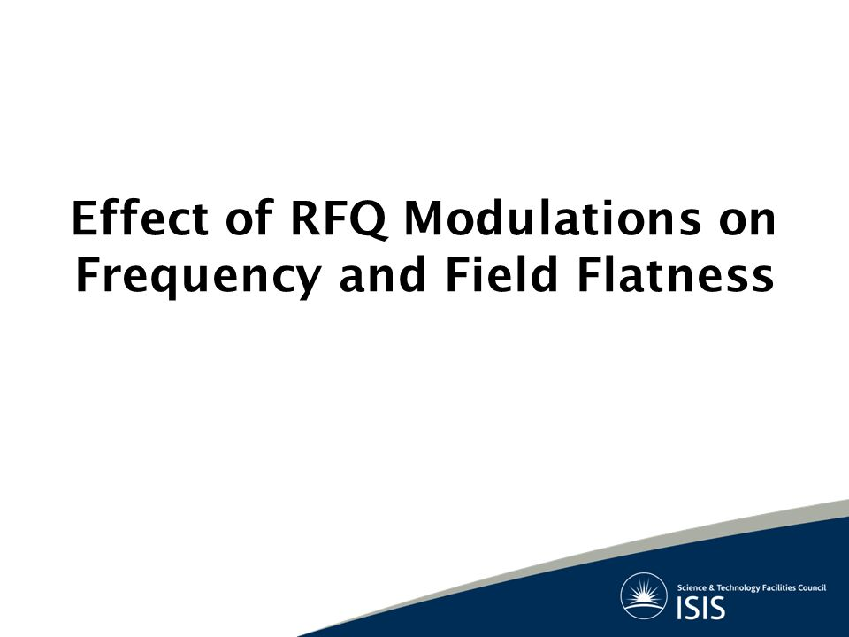 Effect of RFQ Modulations on Frequency and Field Flatness
