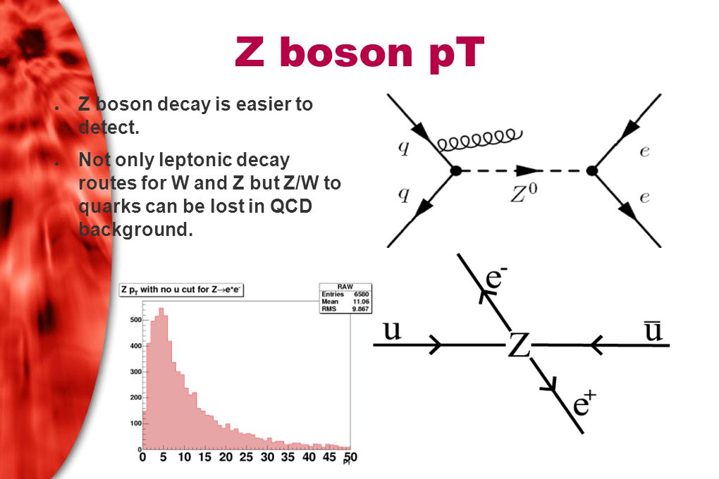 Fitting pTM to data ● A smearing matrix for Zee was generated by simulating 10 million MC Z decays and binning the pTT and pTM of electrons passing the cuts built into the simulation – 0.9 million passed cuts.