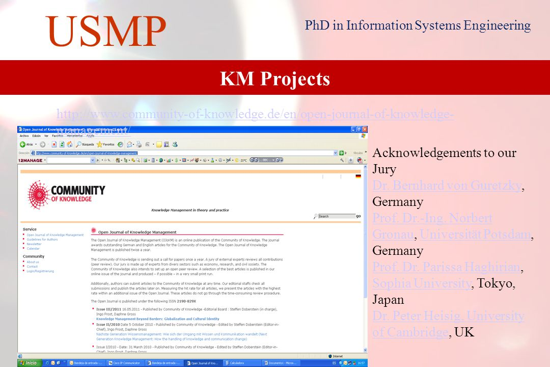 21 USMP PhD in Information Systems Engineering