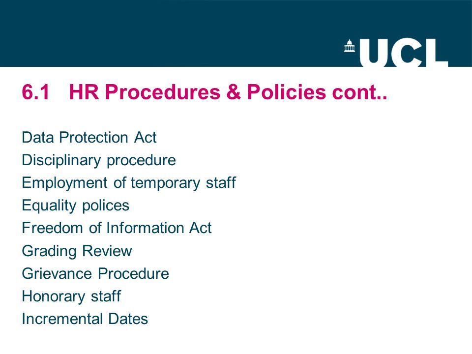 6.1HR Procedures & Policies cont..