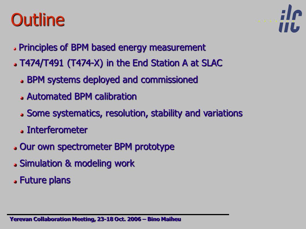 BPM based beam energy measurement Yerevan Collaboration Meeting, 23-17 Oct.