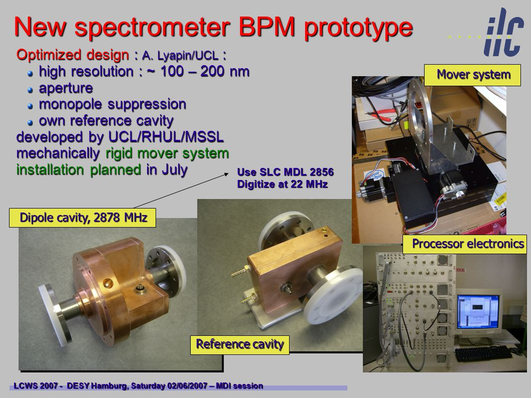 New spectrometer BPM prototype LCWS 2007 - DESY Hamburg, Saturday 02/06/2007 – MDI session Optimized design : A.