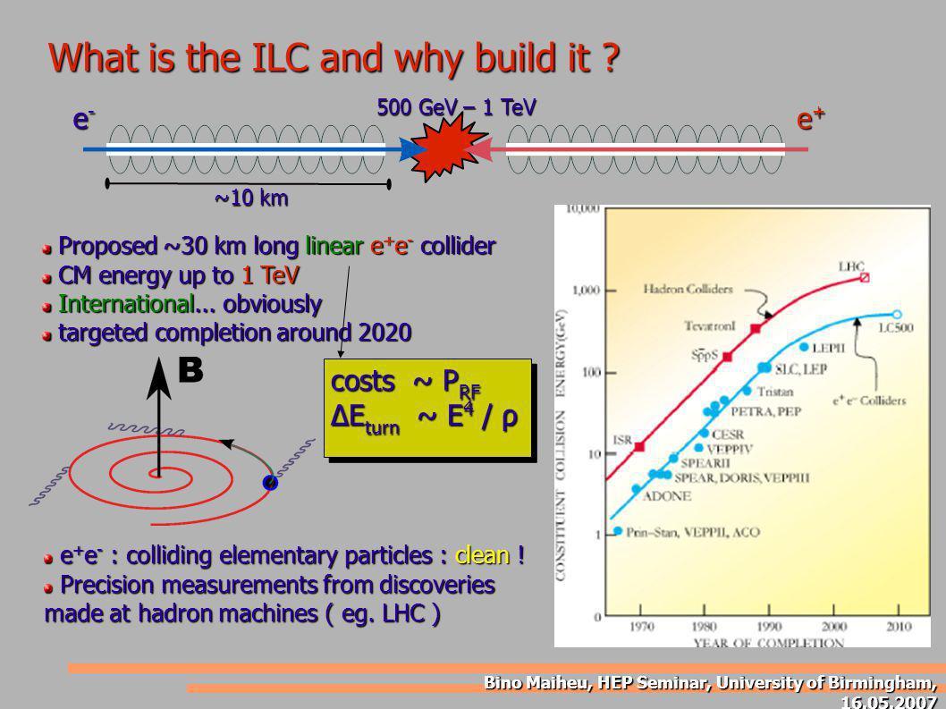Bino Maiheu, HEP Seminar, University of Birmingham, 16.05.2007 Some examples of resonant RF cavities...