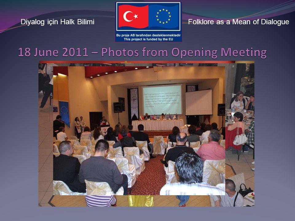 Diyalog için Halk BilimiFolklore as a Mean of Dialogue Opening Speechs Press Conference Project Overview Presentation Photo Exhibition METU TFK Kırkla