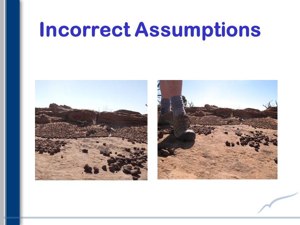 Incorrect Assumptions