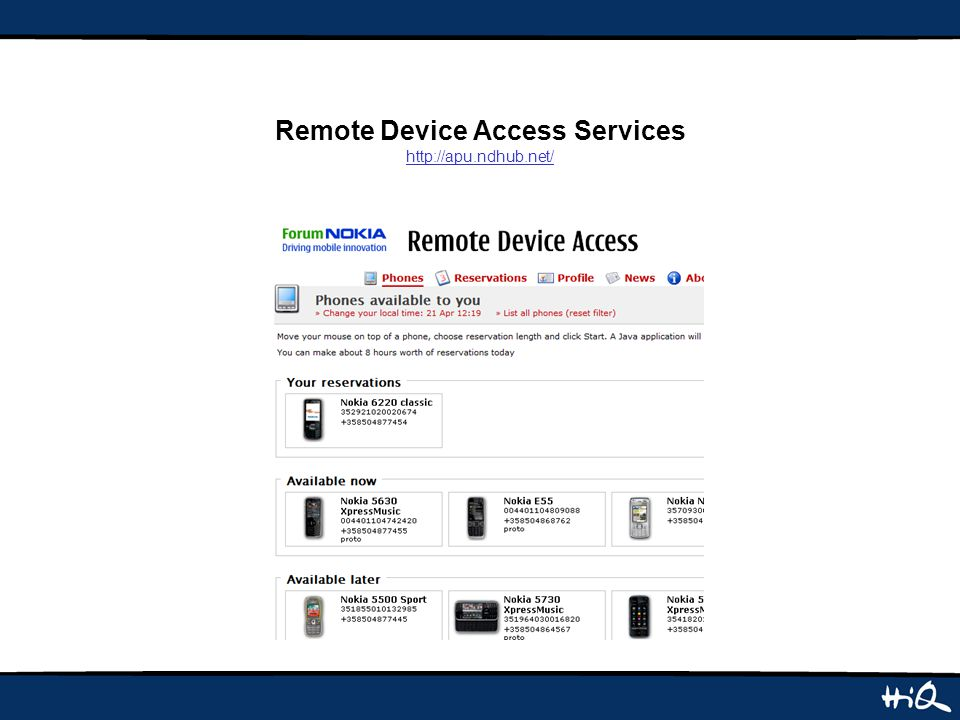 Remote Device Access Services http://apu.ndhub.net/