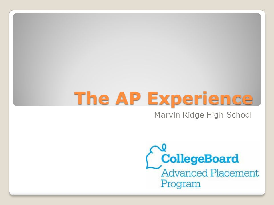 The AP Experience Marvin Ridge High School