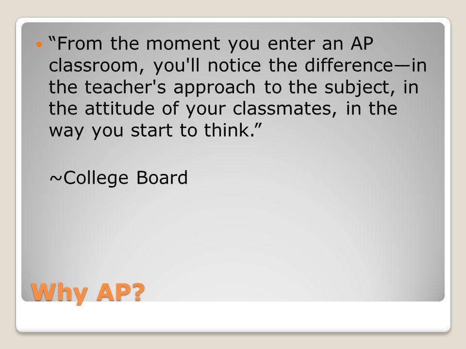 Why AP.