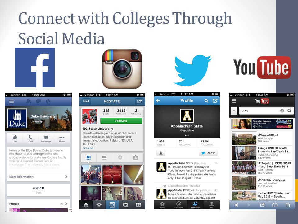 Connect with Colleges Through Social Media