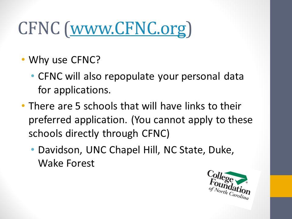 CFNC (www.CFNC.org)www.CFNC.org Why use CFNC.