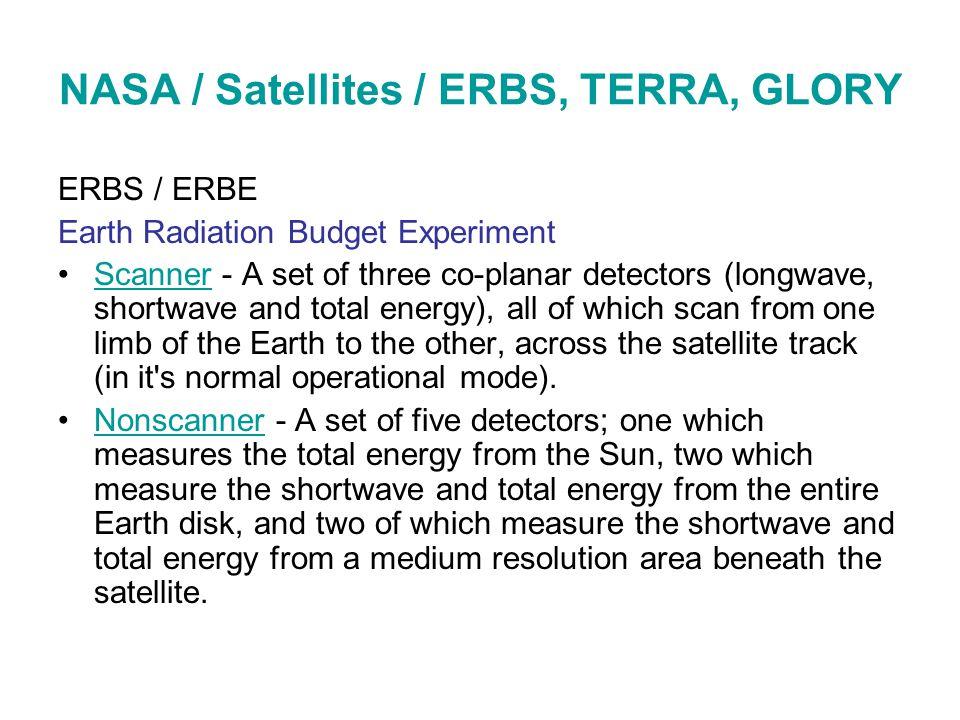 NASA / Satellites / ERBS, TERRA, GLORY ERBS / ERBE Earth Radiation Budget Experiment Scanner - A set of three co-planar detectors (longwave, shortwave