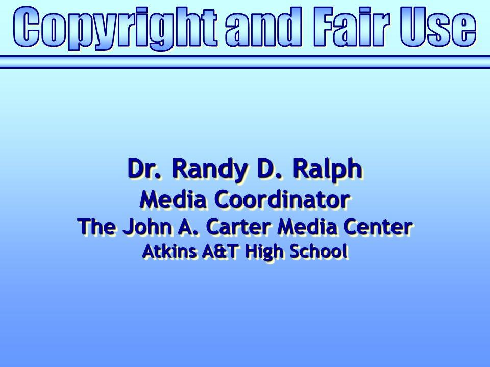 Dr. Randy D. Ralph Media Coordinator The John A. Carter Media Center Atkins A&T High School Dr. Randy D. Ralph Media Coordinator The John A. Carter Me