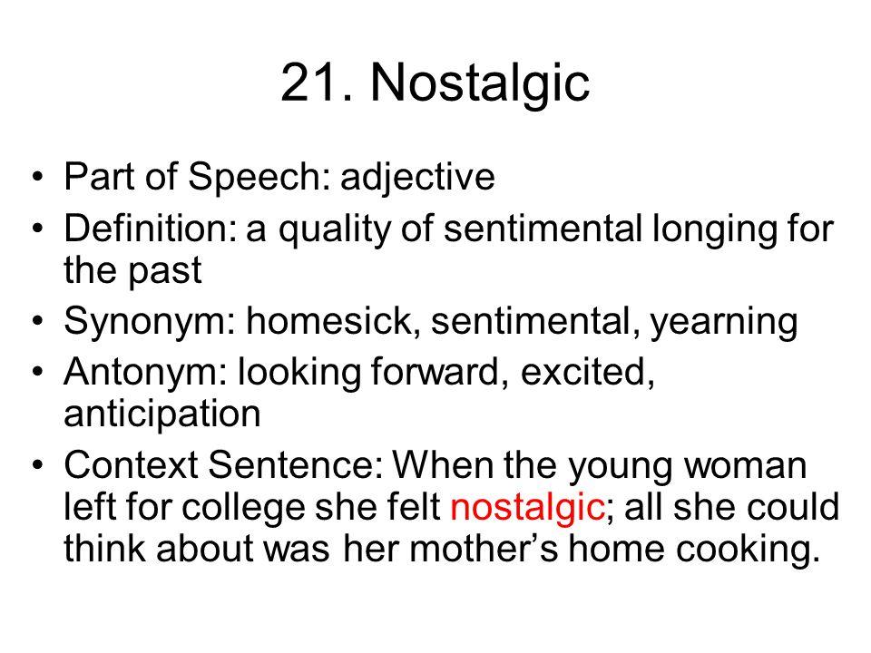 20. Tribute Part of Speech: noun Definition: display of respect or gratitude Synonym: compliment, praise, honor Antonym: mock, make fun of Context Sen