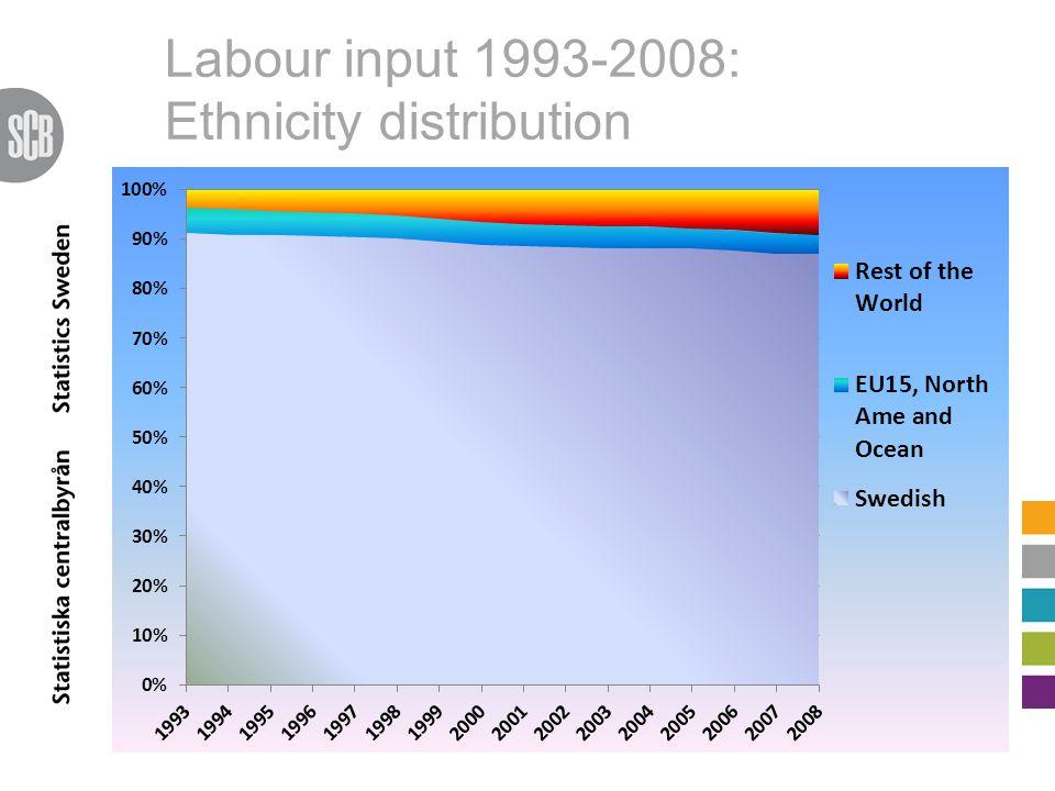 Labour input 1993-2008: Ethnicity distribution