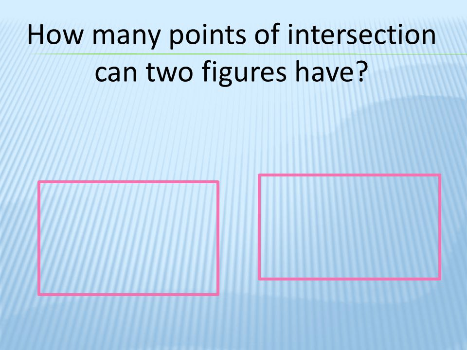 If a line intersects a triangle in one point, what is special about that point.