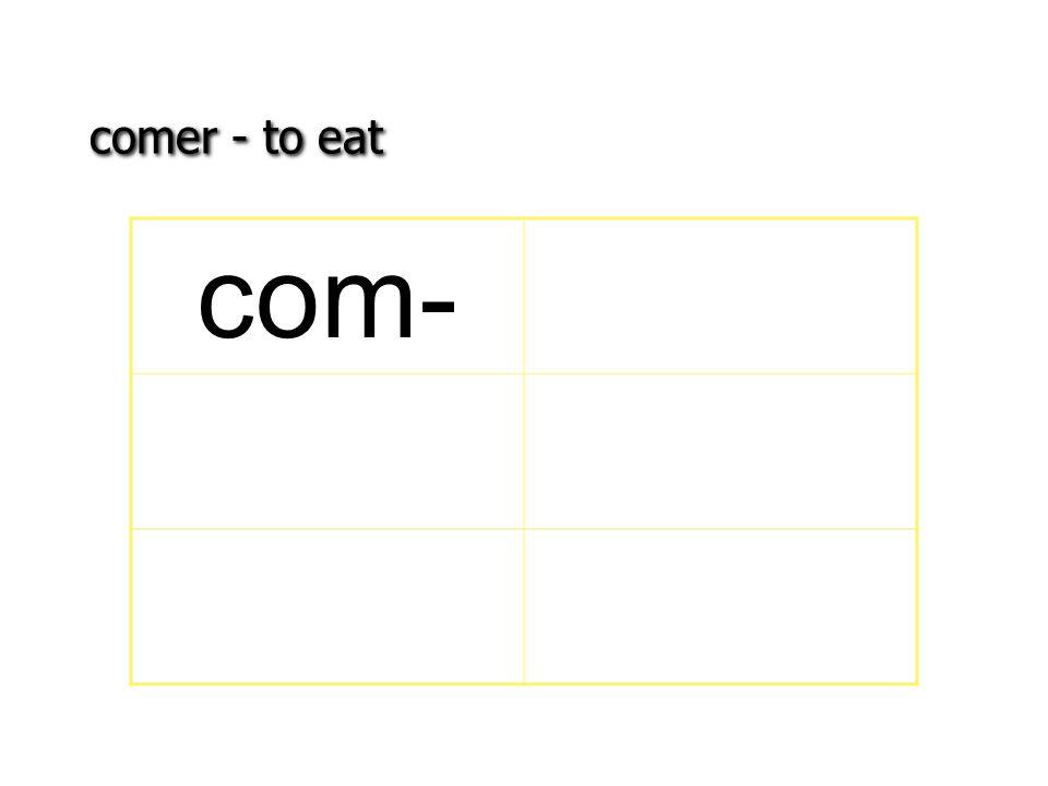 comer - to eat com-