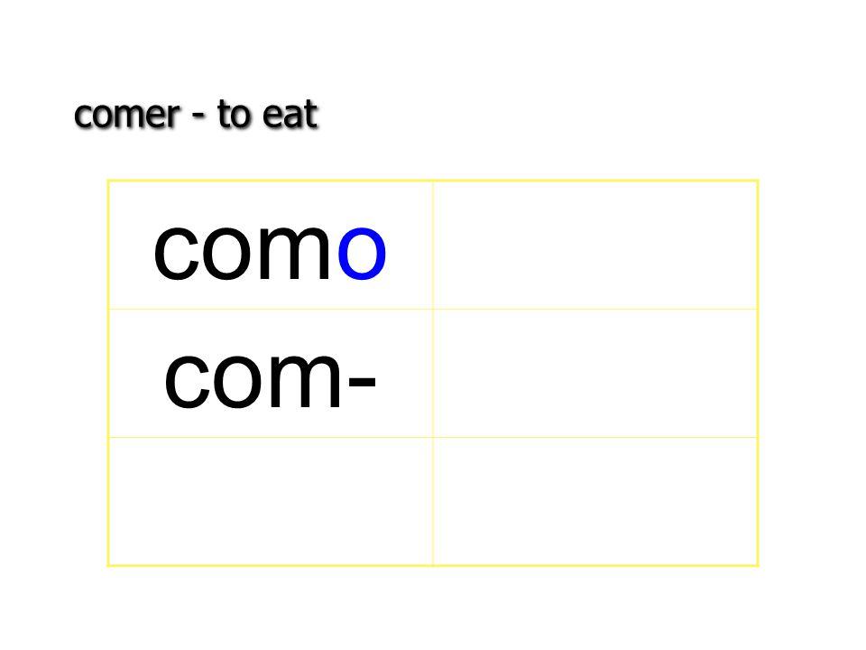 comer - to eat como com-