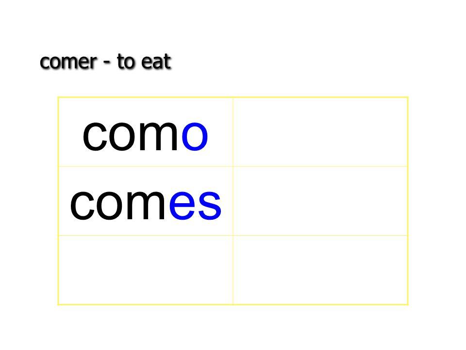 comer - to eat como comes