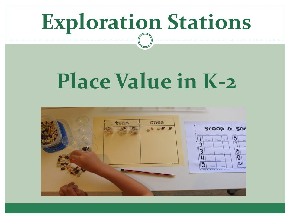 Exploration Stations Place Value in K-2