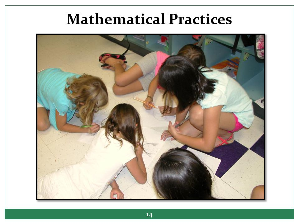 Mathematical Practices 14