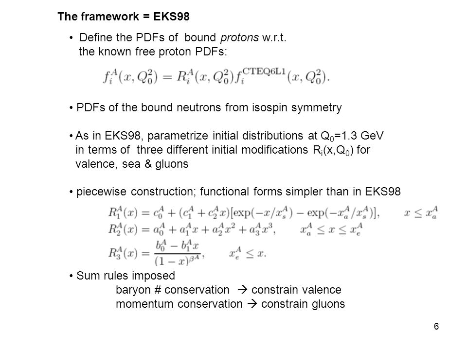 6 Define the PDFs of bound protons w.r.t.