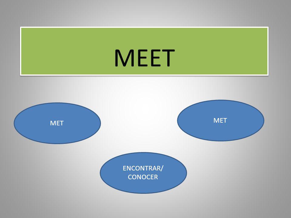 MEET MET ENCONTRAR/ CONOCER