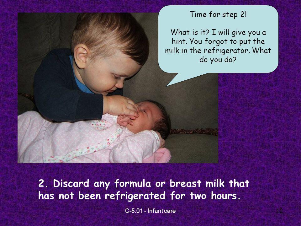 C-5.01 - Infant care12 2.