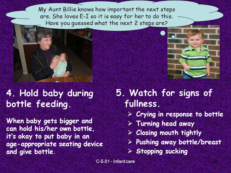 C Infant care14 My Aunt Billie knows how important the next steps are.