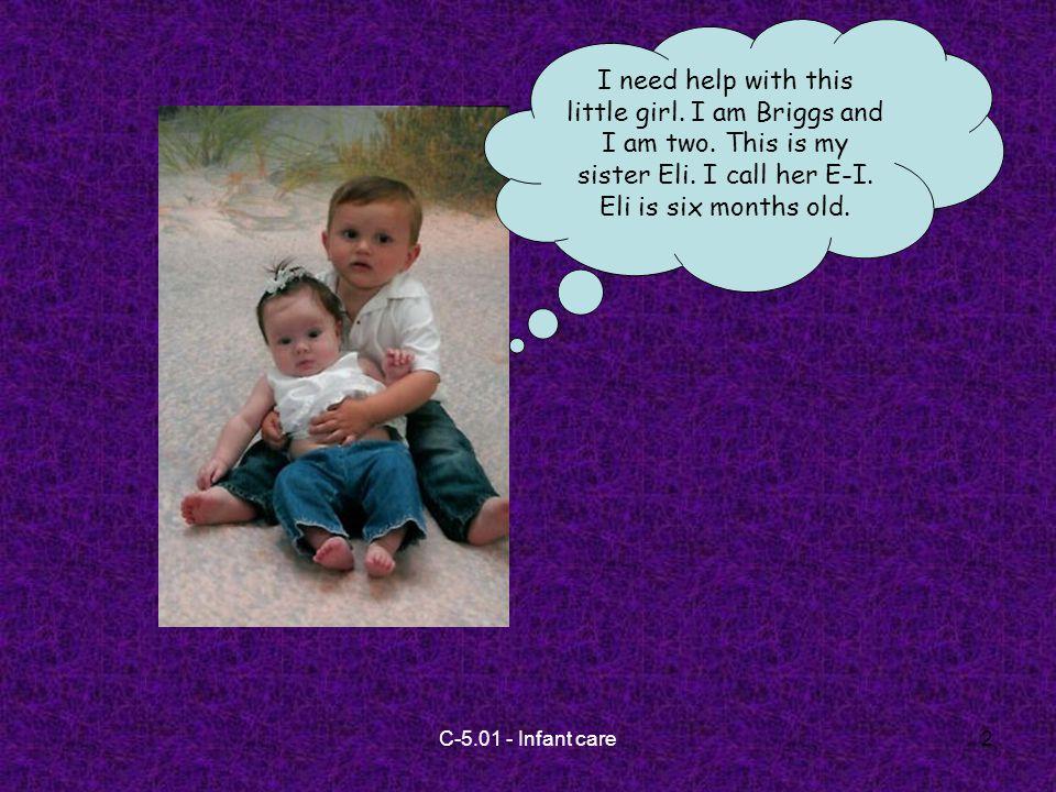 C-5.01 - Infant care13 3.