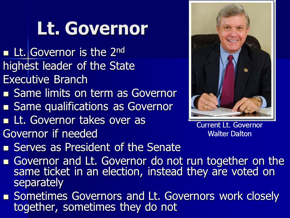 Lt.Governor Lt. Governor is the 2 nd Lt.