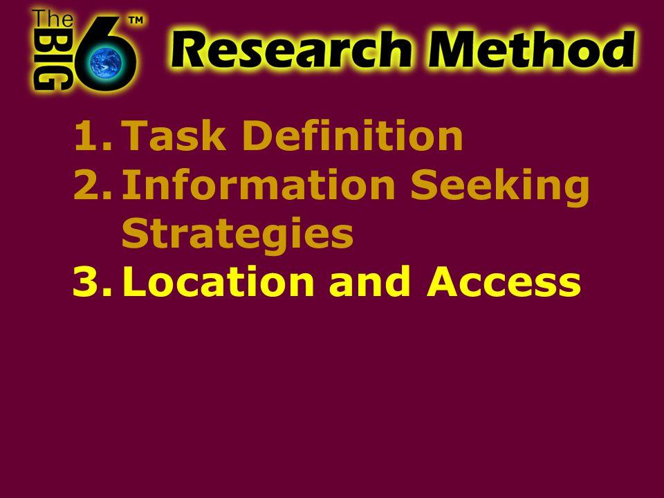2.Information Seeking Strategies