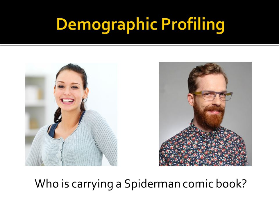 Who is carrying a Spiderman comic book?