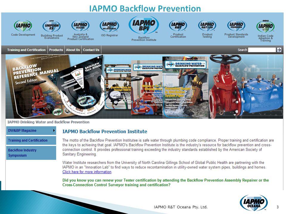IAPMO R&T Oceana Pty. Ltd.24