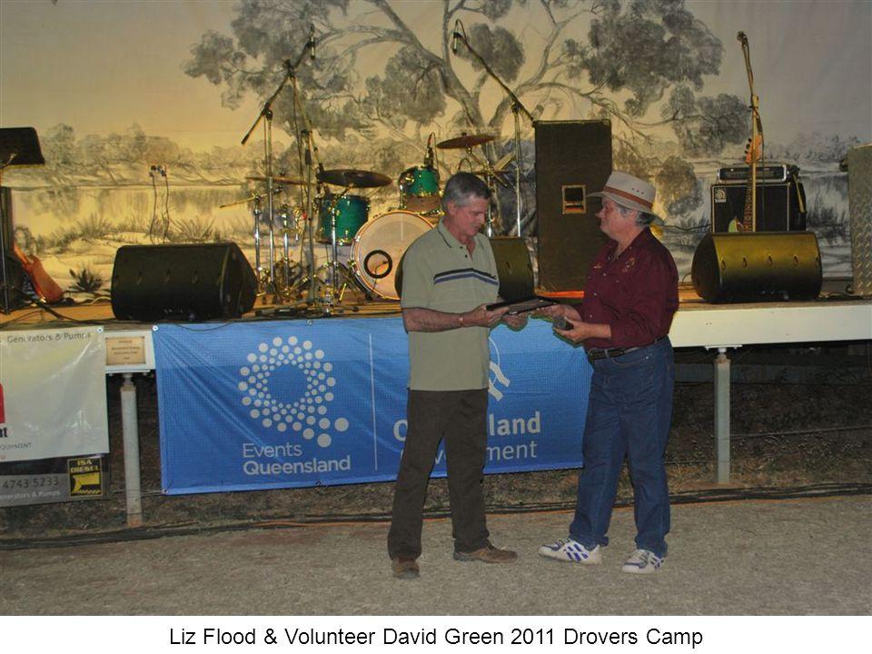 Liz Flood & Volunteer David Green 2011 Drovers Camp