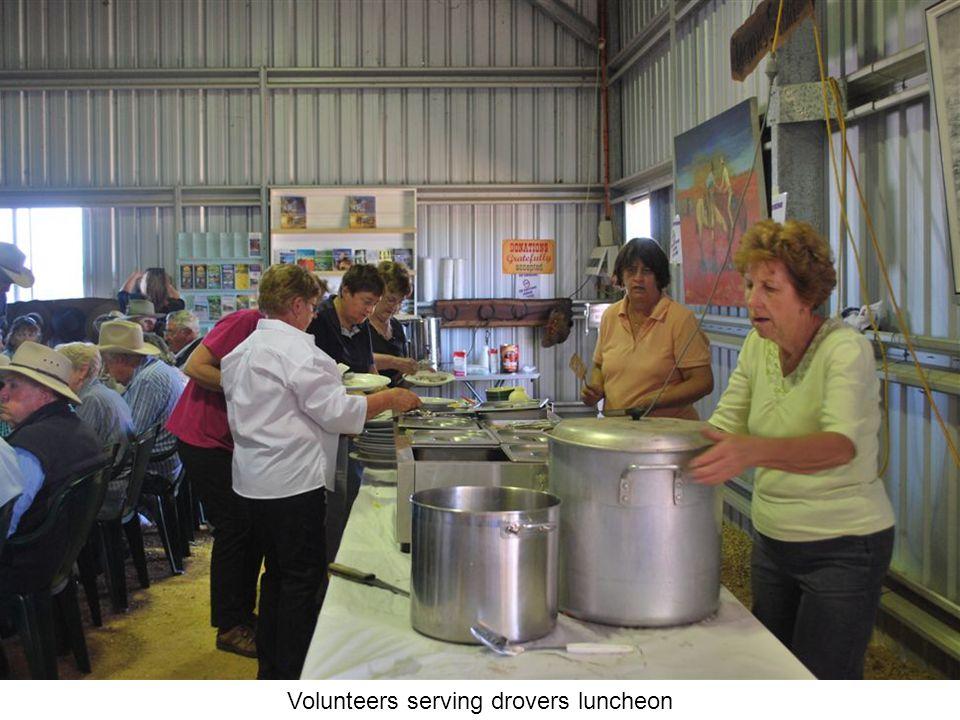 Volunteers serving drovers luncheon