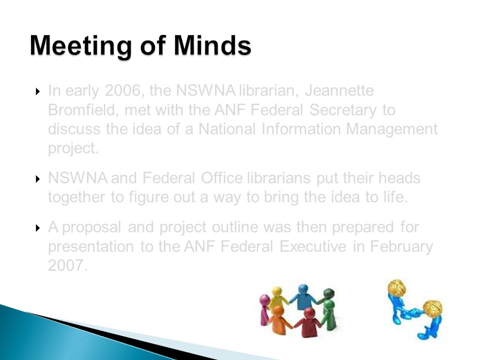  An increased collaborative effort  Cooperation between Federal and State levels  Establishment of professional and social relationships between interstate colleagues  Innovative new opportunities for other collaborative works (CINAHL Consortium)  Increased profile of Librarians and Information Specialists within the workplace