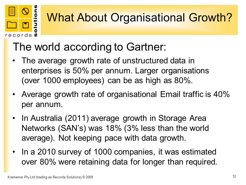 What About Organisational Growth.