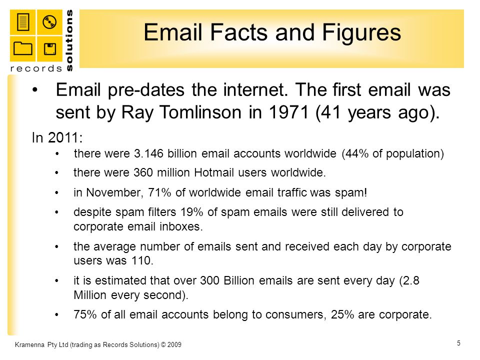 Email Facts and Figures there were 360 million Hotmail users worldwide.