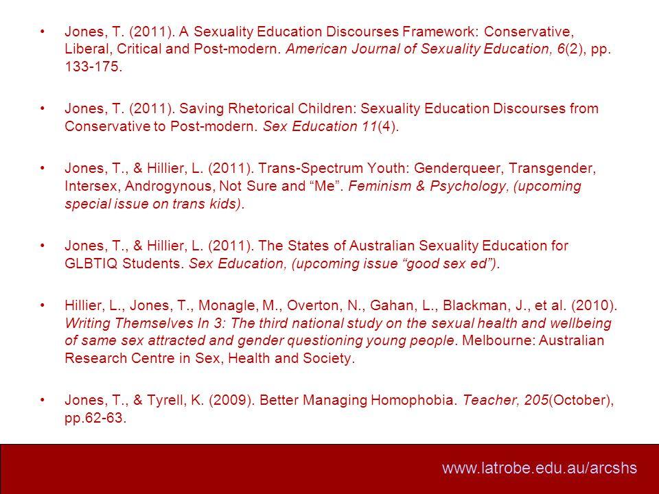www.latrobe.edu.au/arcshs Jones, T. (2011).