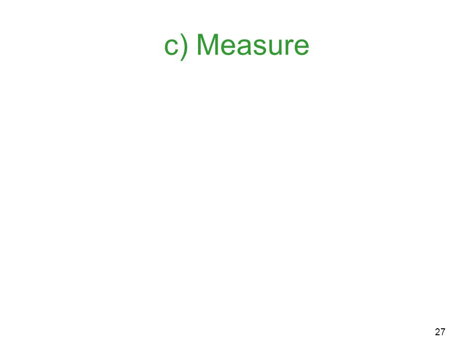 27 c) Measure