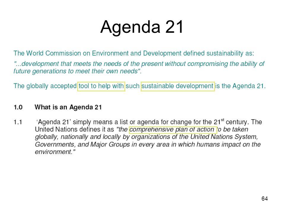 64 Agenda 21