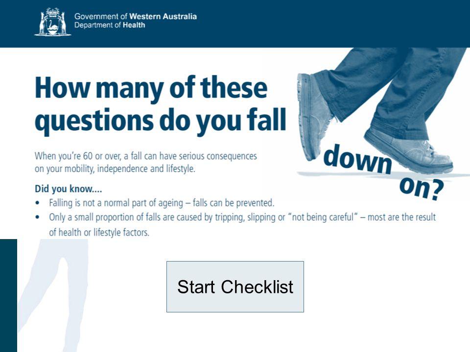Start Checklist