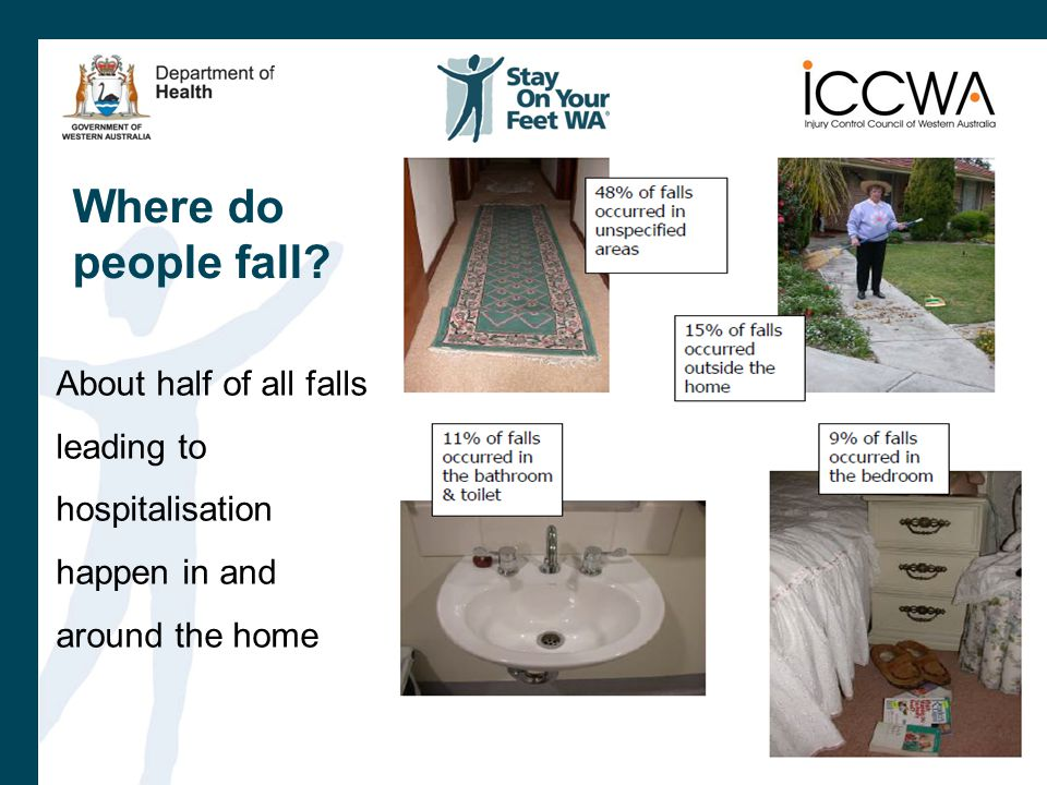 Where do people fall.