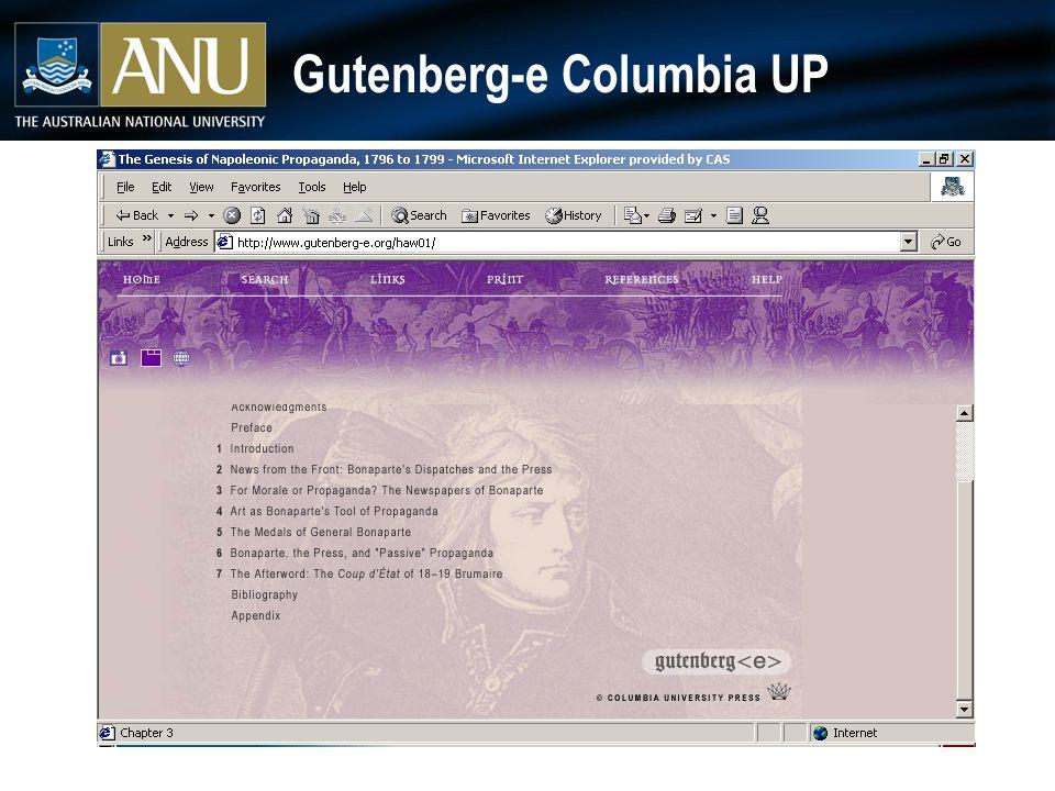 Gutenberg-e Columbia UP