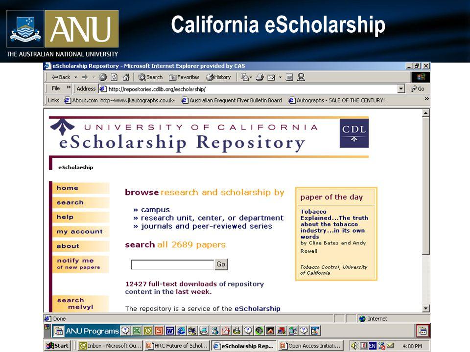 California eScholarship
