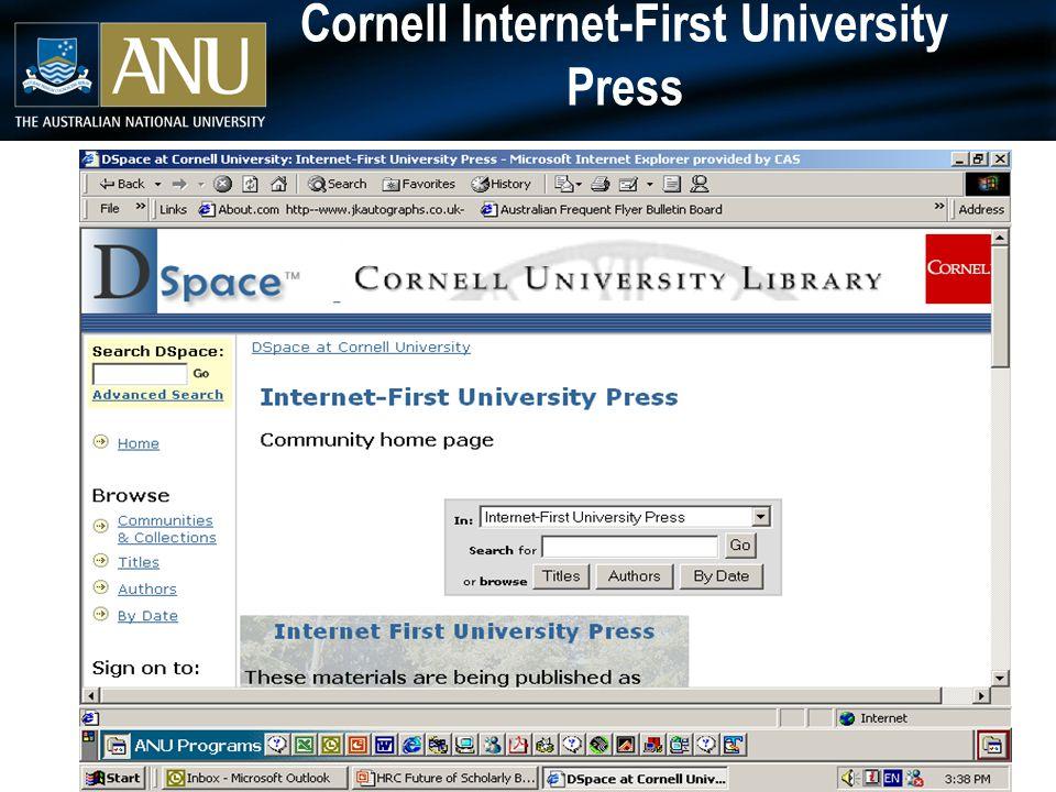 Cornell Internet-First University Press